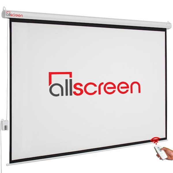 ALLSCREEN ELECTRIC PROJECTION SCREEN 240X180CM CMP-12043 HD FABRIC WITH REMOTE CONTROL DIAGONAL 120 INCH / 304 CM 4:3